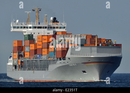 Feedervessel Thetis D - Stock Image
