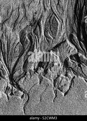 Patterns in sand - Stock Image