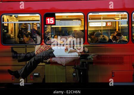 Switzerland, Zurich tram painted - Stock Image
