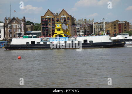 Woolwich Ferry, River Thames, London, UK - Stock Image