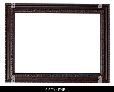 Painted wood Picture frame - Stock Image