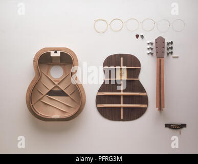 Components of a Classical Guitar - Stock Image