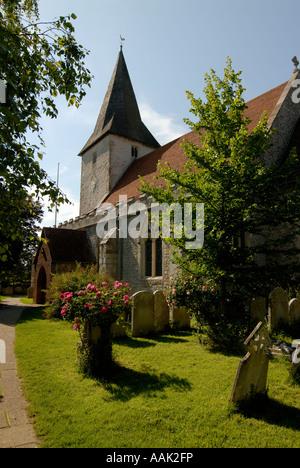 Holy Trinity Church Bosham near Chichester West Sussex - Stock Image