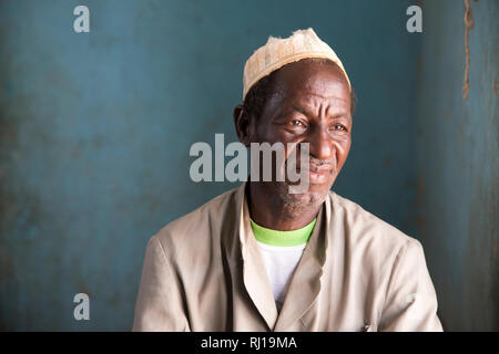 Samba village, Yako Province, Burkina Faso, Salamata's father Ram Zoundi, 61, chairman of the Nutrition team committee. - Stock Image