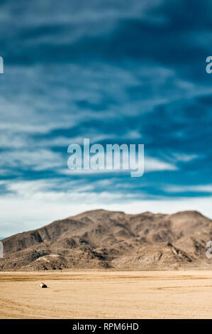 Flat Landscape and Hills - Stock Image