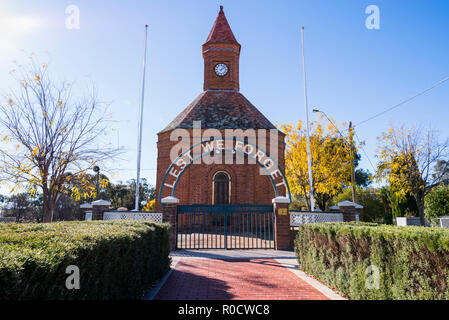 Boorowa War memorial, Hilltops Region, South West Slopes of New South Wales, Australia - Stock Image