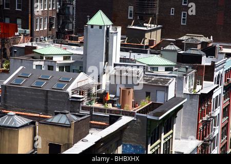 Manhattan rooftops, New York, NY, USA - Stock Image