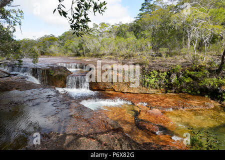 View of picturesque Eliot Falls, a population destination in the Cape York Peninsula, Far North Queensland, FNQ, QLD, Australia - Stock Image