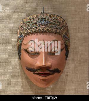 Mask of Prebu Kediri(Lembu Aamijoyo) Before 1939. Yogyakarta, Indonesia. National Museum of Indonesia - Stock Image
