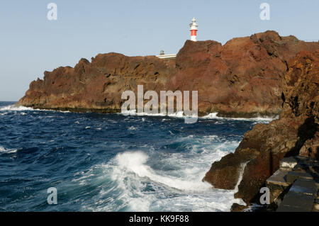 Punta de Teno Lighthouse tenerife canary islands isles canaries - Stock Image