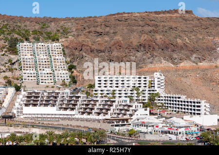 Vacation resort in Playa del Cura, Beach of the Priest, in Mogan, Gran Canaria Island, Canary Islands, Spain - Stock Image