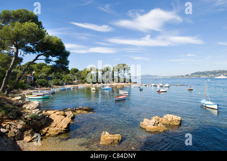 Cap d'Antibes, small harbour, French Riviera - Stock Image