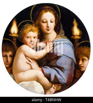 Raphael, Madonna of the Candelabra, painting, c. 1513 - Stock Image