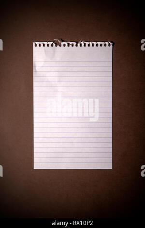Lined Paper - Stock Image
