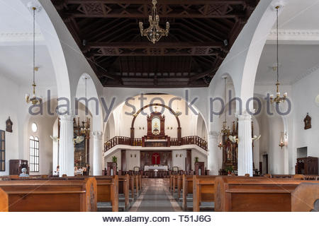 Inside of the Buenviaje Catholic Church which is a famous place and tourist attraction. The place has a Virgin Mambisa (patroness of Cuba) blessed by  - Stock Image