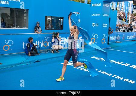 Yokohama, Japan. 18th May, 2019. 2019 ITU World Triathlon, World Paratriathlon Yokohama at Yamashita Park and Minato Mirai, Yokohama. Zaferes (Photos by Michael Steinebach/AFLO) Credit: Aflo Co. Ltd./Alamy Live News - Stock Image