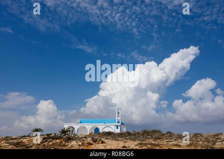 Agia Thekla church, Ayia Napa, Cyprus October 2018 - Stock Image