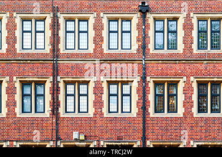 Exterior of a brick mansion block in London - Stock Image