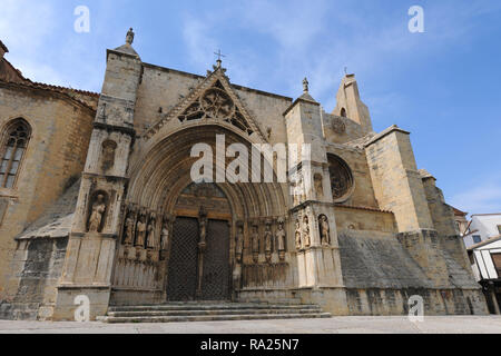 Church of Santa Maria la Mayor, Morella, Castellon, Comunidad Valencia, Spain - Stock Image