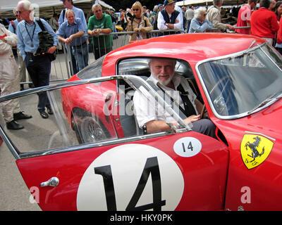 2008 Doug Nye (GB) Ferrari 340MM 0320AM Goodwood Festival of Speed. PV - Stock Image