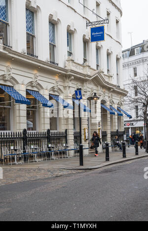 Carluccio's Italian restaurant in Garrick Street, Covent Garden, London, England UK - Stock Image