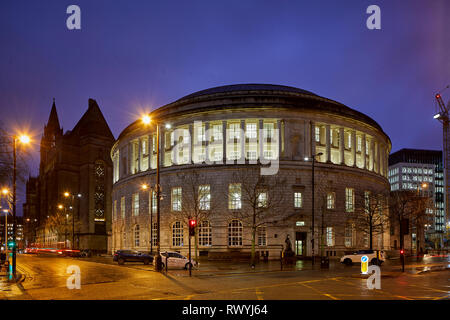 Rotunda domed structure grade II* listed Manchester Central Library  headquarters city's library and information service facing St Peter's Square - Stock Image