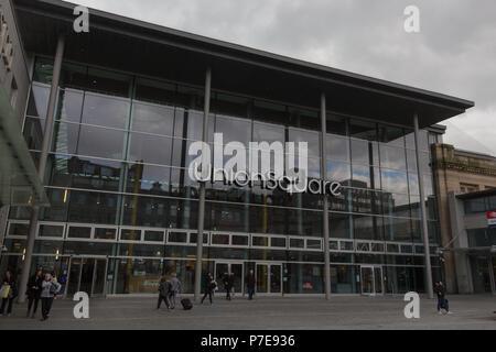 Union Square shopping centre main entrance, Aberdeen, Scotland, UK. - Stock Image
