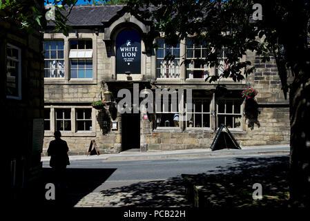 The White Lion pub, Hebden Bridge, West Yorkshire, England UK - Stock Image