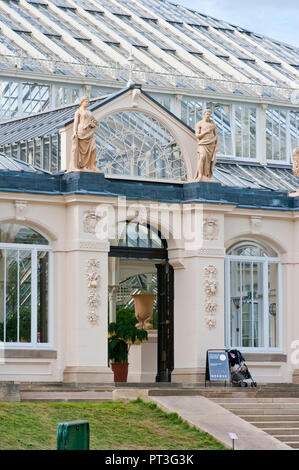 Entrance to The Temperate House in The Royal Botanic Gardens Kew Gardens London England UK - Stock Image