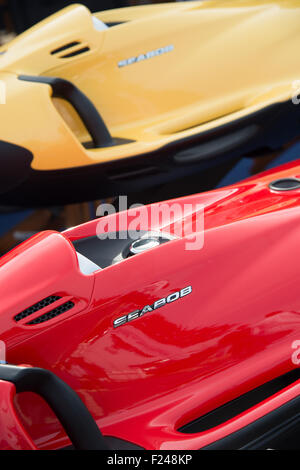Southampton, UK. 11th September 2015. Southampton Boat Show 2015. Seebob underwater jetskis on display at the show. - Stock Image