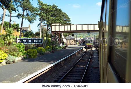 Winchcombe - station on the Gloucestershire & Warwickshire Steam Railway. Winchcombe, Gloucestershire, UK. - Stock Image