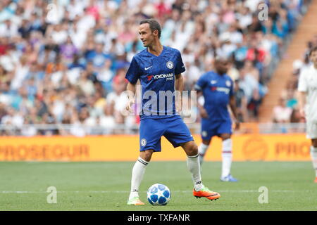 Madrid, Spain. 23rd June, 2019. Ricardo Carvalho (Chelsea) Football/Soccer : Friendly 'Corazon Classic Match 2019' between Real Madrid Leyendas 5-4 Chelsea Legends at the Santiago Bernabeu Stadium in Madrid, Spain . Credit: Mutsu Kawamori/AFLO/Alamy Live News - Stock Image
