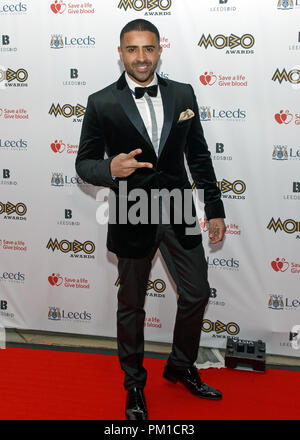 Pop singer Jay Sean (real name Kamaljit Singh Jhooti) on the red carpet at the 2017 MOBO Awards. He presented an award at the event. - Stock Image