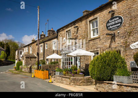 UK, England, Yorkshire, Swaledale, Thwaite, village Kearton Country House Hotel and restaurant named after pioneering nature phoographers - Stock Image