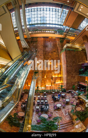 Trump Tower, Interieur, Fisheye, Lobby, Elevators, Donald Trump, New York City, United States of America - Stock Image