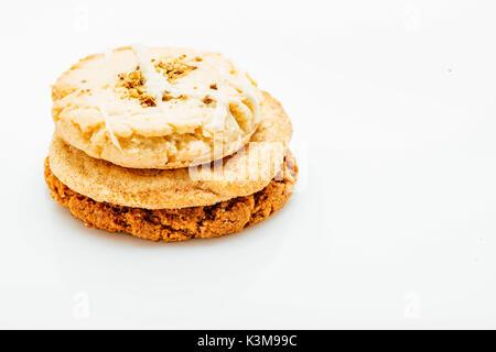 3 cookies - Stock Image