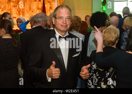 Riga, Latvia. 8th July 2019. Andris Ameriks, Member of European Parliament, during Reception in honour of the inauguration of President of Latvia Mr Egils Levits accompanied by First Lady of Latvia Mrs Andra Levite. Credit: Gints Ivuskans/Alamy Live News - Stock Image