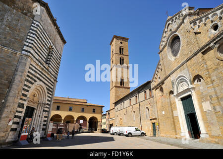 baptistry and cathedral, volterra, tuscany, italy - Stock Image