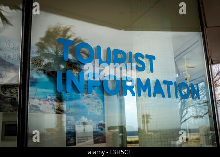 exterior of Tourist Information booth. - Stock Image