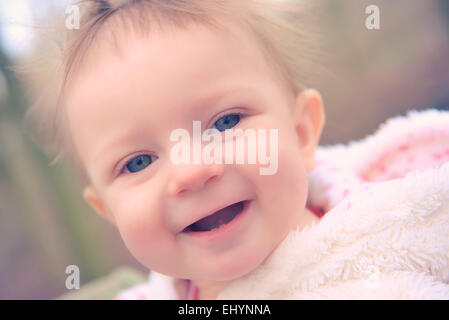 Portrait of a baby girl - Stock Image