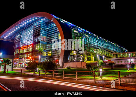 Sochi, Russia - October 06, 2017: Exterior of the Adler railway station. - Stock Image