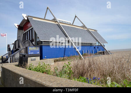 The RNLI lifeboat station at Aldeburgh in Suffolk - Stock Image