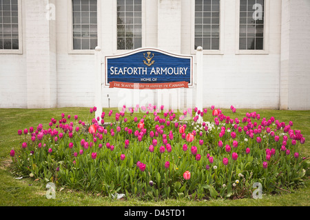 Seaforth Armoury on Burrard Street, Vancouver, British Columbia, Canada - Stock Image