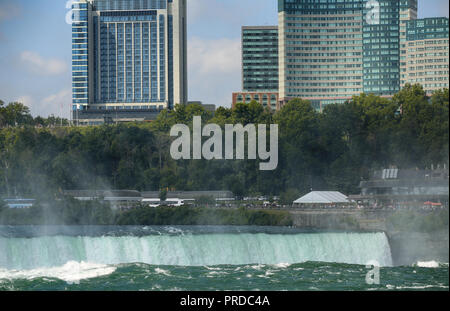 Niagara falls between United States of America and Canada from New York State, USA - Stock Image