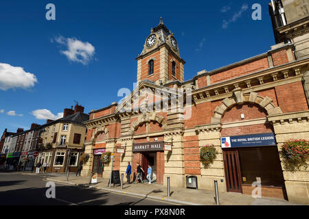 The Market Hall building on Earle Street in Crewe town centre UK - Stock Image
