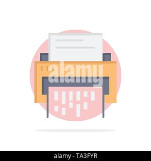 Confidential, Data, Delete, Document, File, Information, Shredder Abstract Circle Background Flat color Icon - Stock Image