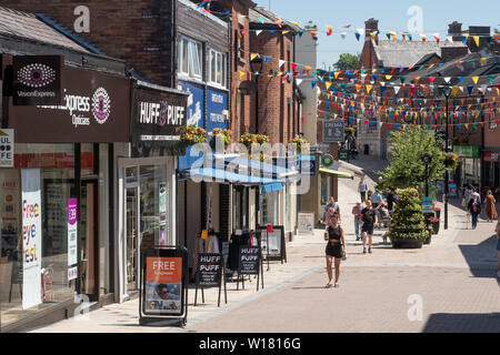Bridge Street in Congleton town centre, Cheshire, England, UK - Stock Image