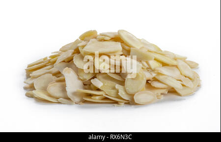 Pile Of Almond Slices - Stock Image