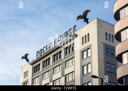 Art Deco Eagle House, 161 City Road, London, UK - Stock Image