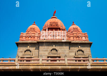 Vivekananda Rock Memorial on the small island in Kanyakumari city in Tamil Nadu, India - Stock Image